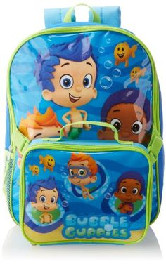 Nickelodeon Boys 2-7 Bubble Guppies Backpack with Lunch Set Turquoise One Size  sc 1 st  Pinterest & Nickelodeon Bubble Guppies Kids Toddler Boys Beach Pool Swim ...