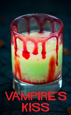 This fruity cocktail is perfect for a vampire enjoying a moonlight stroll on the beach, or guests at your Halloween party that enjoy fruitier, tropical drinks. Fruity Cocktails, Refreshing Drinks, Fun Drinks, Yummy Drinks, Beverages, Mixed Drinks Alcohol, Alcohol Drink Recipes, Punch Recipes, Salad Recipes