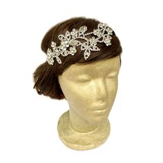 Flower Rhinestone Headpiece Bridal Rhinestone Hair by curtainroad