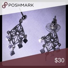 Sterling silver dangling earrings Sterling silver dangling earrings very light weight and beautiful Jewelry Earrings