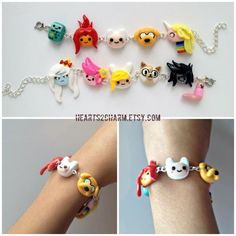 Adventure Time Charm Bracelet Choose up to 6 of by Hearts2Charm, $25.00: