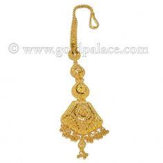 Gold Tikka or maang Tikka forehead Jewelry for women Tikka Jewelry, Indian Jewelry Sets, Bridal Jewelry, Women Jewelry, Gold Jewelry Simple, Simple Necklace, Rajput Jewellery, Maang Teeka, Gold Jewellery Design