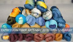 Huge hand-dyed YARN Giveaway by expression fiber arts - enter by May Knitting Designs, Knitting Projects, Crochet Projects, Knitting Patterns, Crochet Patterns, Crochet Motif, Crochet Yarn, Crochet Stitches, Knitting Room