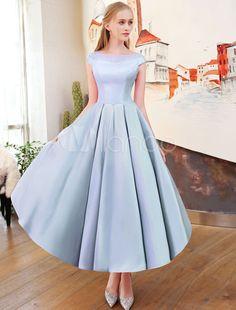 Robes de bal courtes Cameo Robe de fête de mariage en satin rose Plissé  Vintage s Illusion 9f769006ff61