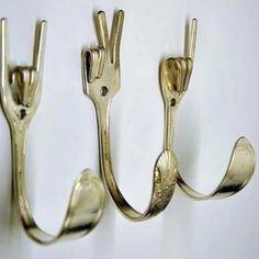 Van oude vorken naar leuke haken voor hand- en theedoeken
