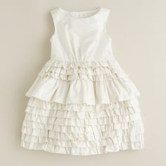 baptism dress.  Ruffles on just the back?