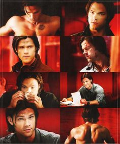 Jared did such a fantastic job playing two completely different characters. Sam/Soulless Sam couldn't be more different. Sam And Dean Winchester, Sam Dean, Winchester Brothers, Jensen Ackles Jared Padalecki, Jensen And Misha, Castiel, Soulless Sam, Demon Dean, Supernatural Memes