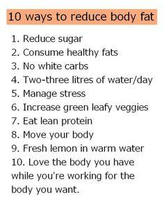 10 ways to reduce body fat