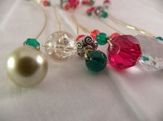 8 Wine Charms Christmas by ThereIsNoOneLikeYou on Etsy, $12.00