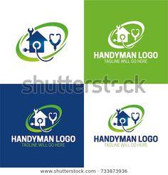 Handyman Icon and Logo - Vector Illustration - buy this vector on Shutterstock &. Handyman Icon an Dr Logo, Handyman Logo, Royalty Free Stock Photos, Illustration, Modern Design, Contemporary Design, Illustrations
