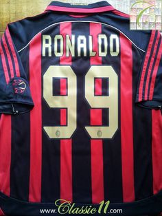 Relive Ronaldo's 2006/2007 season with this vintage Adidas AC Milan home football shirt.
