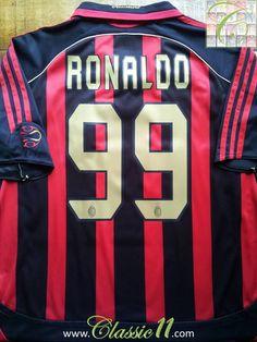 Relive Ronaldo's 2006/2007 season with this vintage Adidas AC Milan home football shirt.