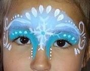 ELSA face painting FROZEN