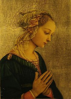 Madonna by Fra Filippo Lippi - Italian Early Renaissance painter ~ - mentor, friend and teacher of Sandro Botticelli. Renaissance Kunst, Renaissance Paintings, Italian Renaissance Art, Renaissance Gown, Sacred Art, Christian Art, Virgin Mary, Religious Art, Our Lady