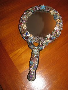 bejeweled hand mirror