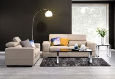 Manny Fabric Sofa Pair with Adjustable Head Rests | Super A-Mart