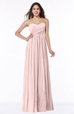Pastel Pink Modern A-line Sleeveless Zipper Chiffon Plus Size Bridesmaid Dresses