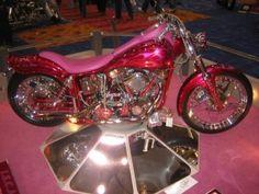 pink and red harley Harley Bikes, Harley Davidson Motorcycles, Cars And Motorcycles, Harley Gear, Custom Motorcycles, Pink Motorcycle, Motorcycle License, Pink Bike, Hot Bikes