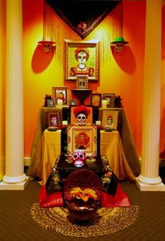 "Frida Kahlo altar by John Huerta as seen in the exhibit, ""Day of the Dead: Art of Día de Los Muertos,"" featuring contemporary art & installations by John Huerta, David Lozeau & Rob-O. For more information, visit: http://www.californiamuseum.org/day-dead (Photo of  courtesy of John Huerta.)"