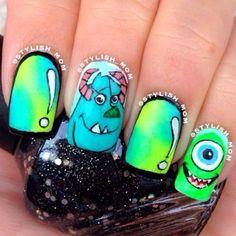 Uñas de Monster Inc.