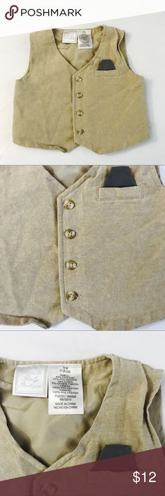 Koala Baby Boys Formal Occassion Beige Vest 12m Koala Baby Boys Formal Occassion Beige Vest 12m For 21-25 lbs Excellent condition no flaws 3 oz Koala Kids Shirts & Tops
