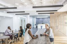 Woodhouse removed the original marketing suite of Ashton House and inserted a café in lieu, creating one large open space combined with the reception, building on volume and light. Cafe House, Minimal Design, Being A Landlord, Rid, Minimalism, Finger, Reception, Marketing, The Originals