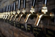 beer taps in wall - Google Search : great wall behind taps, love the hanging tags