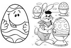 conejos de pascua para colorear e imprimir
