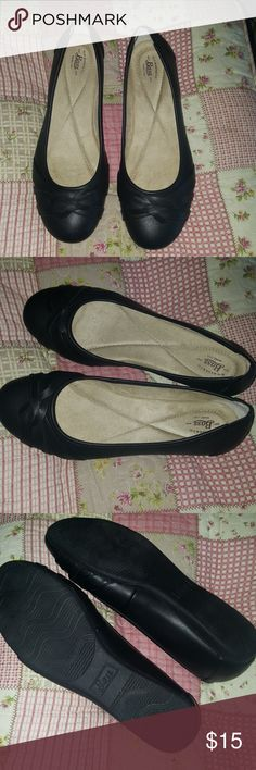 Bass black flats.. Worn once inside my house . New condition Bass Shoes Flats & Loafers