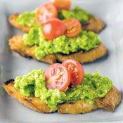 Pea Pesto Crostini, Recipe from Cooking.com