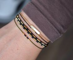 Handmade Miyuki beaded bracelets by Yours Armcandy Diy Bracelets Easy, Seed Bead Bracelets, Friendship Bracelets, Beaded Jewelry, Handmade Jewelry, Etsy Handmade, Earrings Handmade, Miyuki Beads, Jewelry