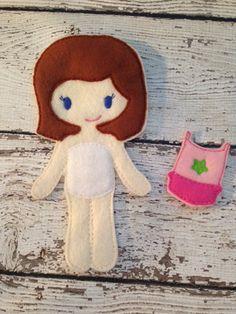 Felt Dress Up Doll Unpaper Doll Felt Doll Pretend Play