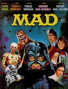 Mad Star Wars Covers - Mad #196 (Jan. 1978): The original movie