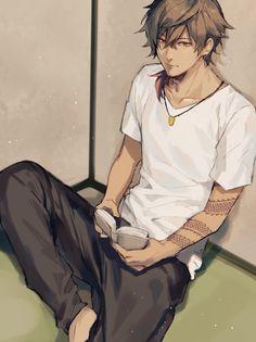 Handsome Anime Guys, Cute Anime Guys, Hot Anime Boy, Black Anime Characters, Fantasy Characters, Fan Anime, Anime Art, Anime Demon Boy, Ecchi