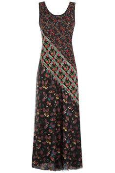 #Anna #Sui #Maxi, #Dress aus #Seide mit #Prints #, #Multicolor für #Damen - Steigert die Fashion > Vorfreude auf den Sommer: Das Maxi > Dress mit bunten sommerlichen Prints aus feiner Seide. Romantisch verspielt, feminin und chic  >  typisch für Anna Sui  >  Seide mit Print in Multicolor, Rundhals  >  Schmal geschnitten, bodenlang  >  Stylen wir lässig mit Sandalen und Jeansjacke oder chic mit Heels und Clutch