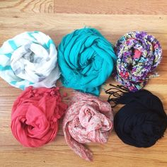 Scarf Bundle: 1 for $5, 2 for $8 Choose any number of scarves and I will create a custom listing for you! 1 for $5, 2 for $8, and I promise to offer a great deal if you want more than that! Mostly these are from target, forever 21, Francesca's, Dillard's, etc. All in good condition! Don't buy this listing- I'll make you a new one that is custom! *The numbers in the current picture are updated and 1 and 6 have been sold.* Accessories Scarves & Wraps