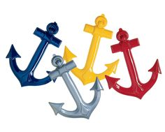 Decorate your nautical party with colorful maritime anchors.