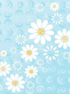 7743 Blue Daisy Backdrop - Backdrop Outlet