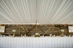 DIY Wedding / the groom made this wood wall backdrop for the head table // Kristy Klaassen Photography Vintage Wedding Backdrop, Rustic Wedding Backdrops, Wedding Ceremony Backdrop, Wedding Ceremony Decorations, Wedding Reception, Rustic Wood Decor, Rustic Barn, Rustic Chic, Diy Wedding