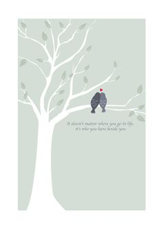 Beautiful Love birds print 'It doesn't matter by designedbywink, £15.00