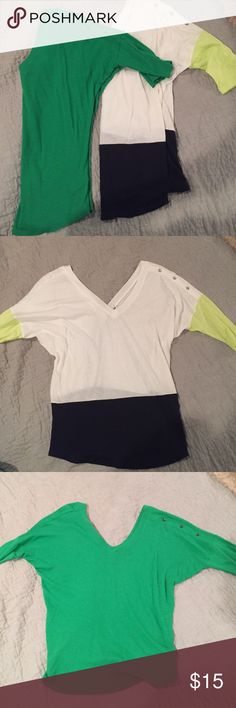 2 Express Tops These tops are great- so soft and so versatile! They are great paired with a cute necklace or tucked into a pencil skirt. Love them!! Express Tops