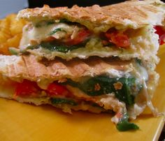 Stephanie Cooks: Lemon Chicken and Spinach Paninis