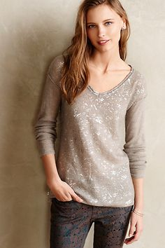 Shimmered Horizons Pullover #anthropologie