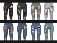 Another set of 12 jeans with various patches and rips. Enjoy! Download: TheSimsResource