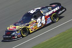 Jeff Gordon's rainbow-colored No. 24 Hendrick Motorsports Chevrolet is one of the most iconic cars in NASCAR history, but the four-time champion also ran a host of other paint schemes throughout his Hall of Fame career. Nascar 24, Nascar Race Cars, Nascar Sprint Cup, Sports Car Racing, Fox Sports, Indy Cars, Auto Racing, Jeff Gordon Car, F1 Posters