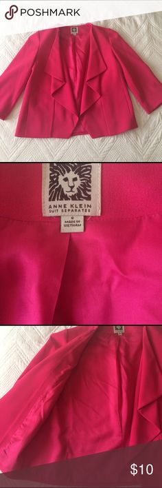 Anne Klein Blazer Beautiful magenta colored suit separate by Anne Klein. A must have staple for both work and play! Like new! Anne Klein Jackets & Coats Blazers