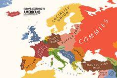 Europe according to Americans  HAHAHA!
