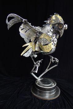 蒸汽朋克運動,啟發雕塑將優雅地使用報廢金屬零件 - 我的現代大都會