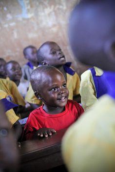 cute child learning in Uganda!