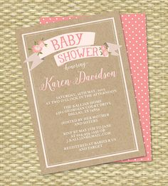 Baby Shower Invitation Baby Girl Shower by SunshinePrintables